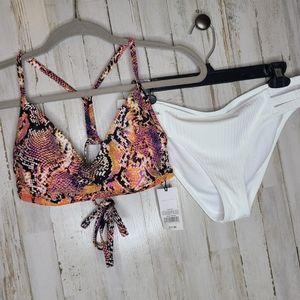 Shade & Shore Swimsuit Set 2 Piece Medium NWT